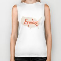 explore Biker Tanks featuring Explore by Landon Sheely