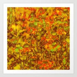 Winter Wildflowers Art Print