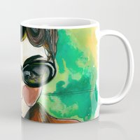 amelie Mugs featuring Amelie by Gra Pereira