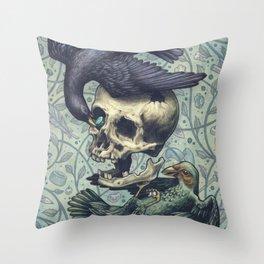 Bowerbirds Throw Pillow