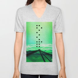 Green Abstract Passion Unisex V-Neck