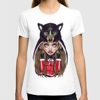 red hood T-shirts featuring Red Riding Hood by Giulio Rossi