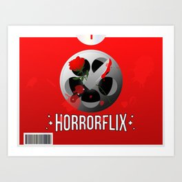 Horrorflix Art Print