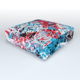 Demonic Toy Poodle Abstract Outdoor Floor Cushion