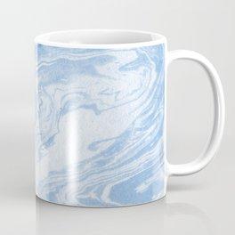 Ryoko - spilled ink abstract painting marble marbled paper art minimal swirl modern water ocean wave Coffee Mug