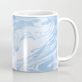 Ryoko - spilled ink abstract painting marble marbled paper art minimal swirl modern water ocean wave Coffee Mug