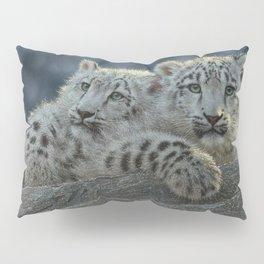 Snow Leopard Cubs Pillow Sham