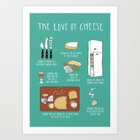 The Love Of Cheese Art Print