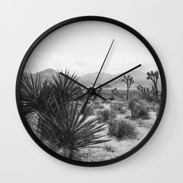 The Place to be in Joshua Tree Wall Clock