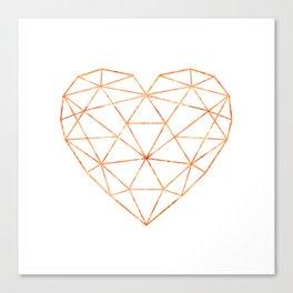 COPPER HEART (WHITE) Canvas Print