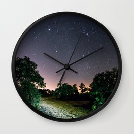Winter Sky Wall Clock