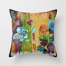 Santa Fe Garden Throw Pillow