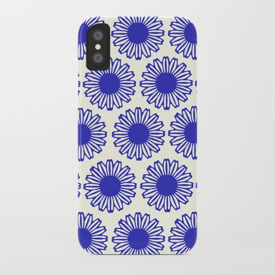 vintage flowers blue  iPhone Case