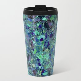 Blue And Green Stained Glas Travel Mug