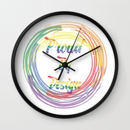 Proud by Design Wall Clock
