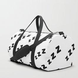 Zzzs Pattern in Black Duffle Bag