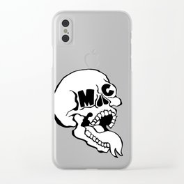 Original ArtByMc Skull Clear iPhone Case