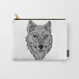 Moony-Eyed Wolf Carry-All Pouch