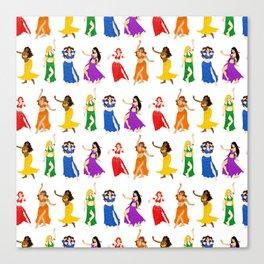 Belly Dancers - Rainbow Colors Canvas Print