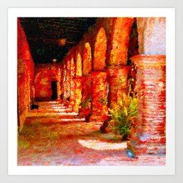 Mission San Juan Capistrano California Abstract Art Print