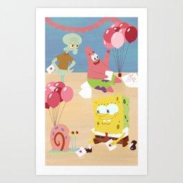 Pineapple Valentines Art Print