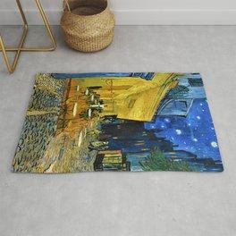 12,000pixel-500dpi - Vincent van Gogh - Cafe Terrace at Night - Digital Remastered Edition Rug