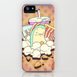 The terrible monster of popcorn! iPhone Case