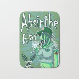 Absinthe Bar Pinup Bath Mat