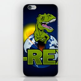 T Rex Dinosaur in the planet iPhone Skin