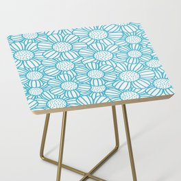 Field of daisies - teal Side Table