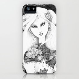 Midnight Rose iPhone Case
