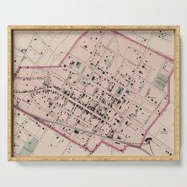 Vintage Map of Charlottesville VA (1877) Serving Tray