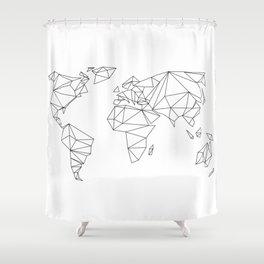 geometrical world - white Shower Curtain