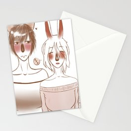 Wolf and Bunny Stationery Cards