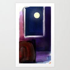I Can't Sleep When You Are Not Here The Moon Art Print