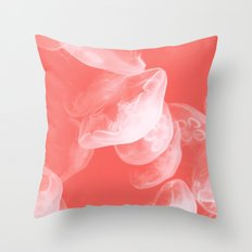 Coral jellyfish  Throw Pillow