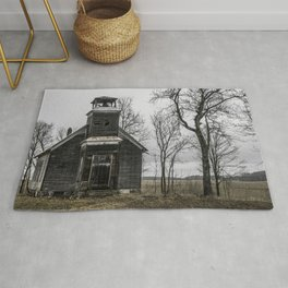 Abandoned Schoolhouse Michigan Country Road Rug