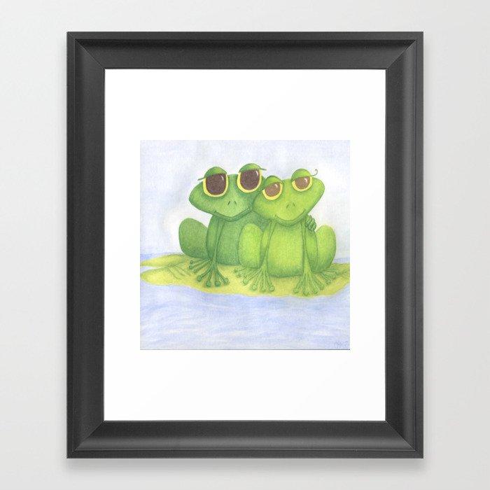 The Frog Lovers  Framed Art Print
