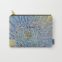 Glass work Flower stamp pen drawing  Carry-All Pouch
