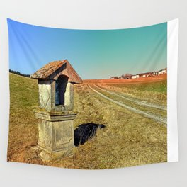 Wayside shrine with scenery 2 | landscape photography Wall Tapestry