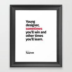 Young Designer — Advice #2 Framed Art Print