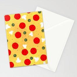 Cool fun pizza pepperoni mushroom Stationery Cards