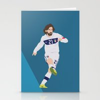 juventus Stationery Cards featuring  Andrea Pirlo by Marwan Baghdadi