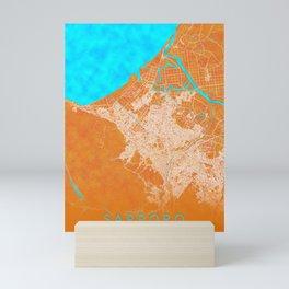 Sapporo, Japan, Gold, Blue, City, Map Mini Art Print