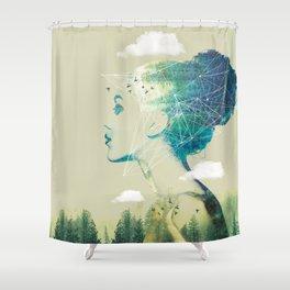 Geo Forest Shower Curtain