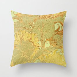 Sunflowers Golden Garden Throw Pillow