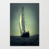 sailboat Canvas Prints featuring sailboat by laika in cosmos