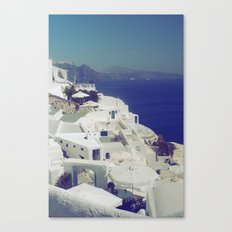 Santorini White & Blue Canvas Print