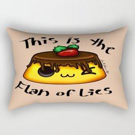 Flan of Lies Rectangular Pillow