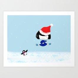 Bluey's Christmas stunt Art Print